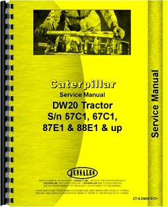 Caterpillar Dw20 Tractor Service Manual sn 57c1 And Up
