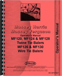 Massey Ferguson 120 124 126 128 130 Baler Operators Manual