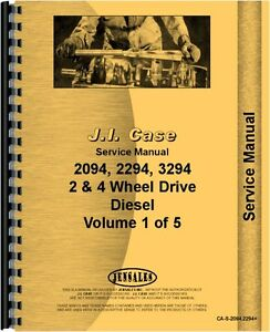 Case 2094 2294 3294 Fold Out Illustrations Tractor Service Manual