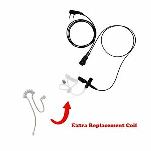 1 wire Clear Acoustic Surveillance Kit Extra Tube For Kenwood Nexedge Nx 420