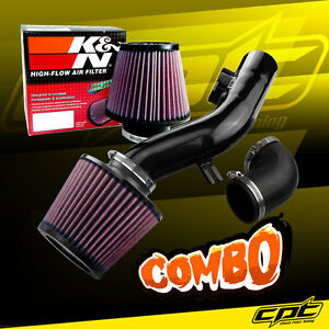 For 08 12 Chevy Malibu 2 4l W o Air Pump Black Cold Air Intake K