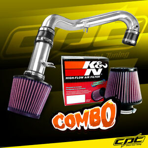 01 05 Honda Civic Dx Lx Manual 1 7l Polish Cold Air Intake K N Air Filter