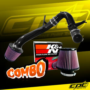 For 09 14 Acura Tsx 2 4l 4cyl Black Cold Air Intake K N Air Filter