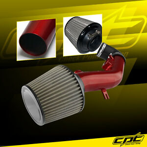 For 08 12 Chevy Malibu 2 4l With Air Pump Red Cold Air Intake Stainless Filter