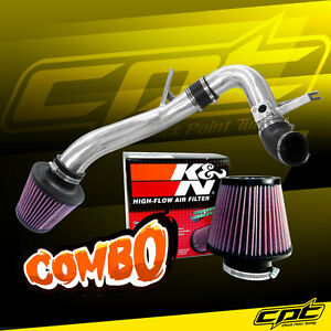 For 09 14 Acura Tsx 2 4l 4cyl Polish Cold Air Intake K N Air Filter