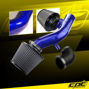 For 08 12 Chevy Malibu 2 4l W o Air Pump Blue Cold Air Intake Stainless Filter
