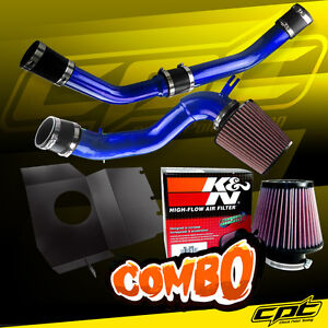 08 15 Lancer Turbo 2 0l Evo X 10 Blue Cold Air Intake K N Air Filter