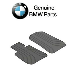 For Bmw 330i M5 Front Floor Mat Set All Weather Rubber Anthracite Black Genuine