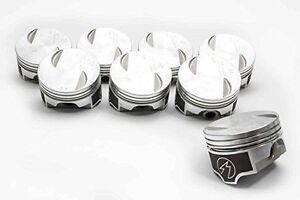 Speed Pro Chevy 454 7 4 Forged Flat Top 2vr Coated Piston Set 8 020 Oversize
