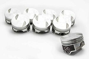 Speed Pro Chevy 454 7 4 Forged Flat Top Coated Pistons Moly Rings 30 Oversize