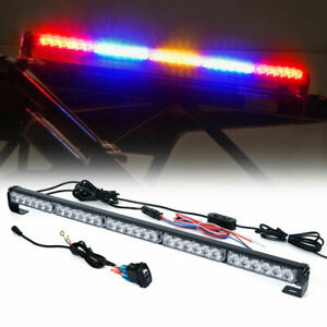 Rbybr 30 Offroad Rear Chase Led Strobe Light Bar W reverse Brake Light Offroad