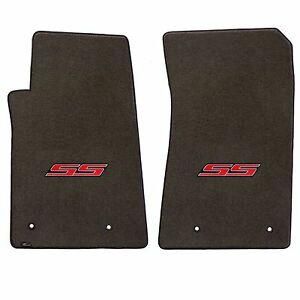 Camaro 2010 2pc Car Floor Mats Carpet Black Ebony Velourtex Ss Logo