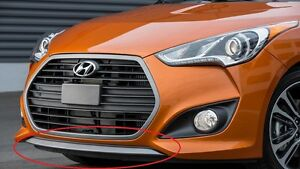 Front Bumper Lower Deflector 2013 2017 Veloster Turbo Oem Front Lower Lip