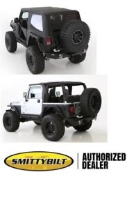 2007 18 Soft Top Jeep Wrangler Jk 2 Door Black Tinted Bowless Combo Top 9073235