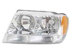 New Jeep Grand Cherokee 1999 2000 2001 2002 2003 2004 Left Driver Headlight