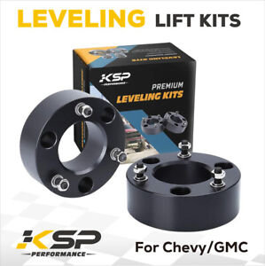 2 Front Leveling Lift Kit For 2007 2021 Chevy Gmc Silverado Sierra 1500 2wd 4wd