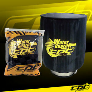 Universal Water Guard Cold Air Intake Pre Filter Cone Filter Cover Black Large