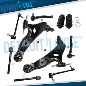 2004 2010 Toyota Sienna 12pc Front Lower Control Arm Pair Suspension Kit