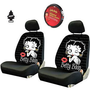 For Volkswagen New Betty Boop Front Low Back Car Truck Seat Steering Wheel Cover