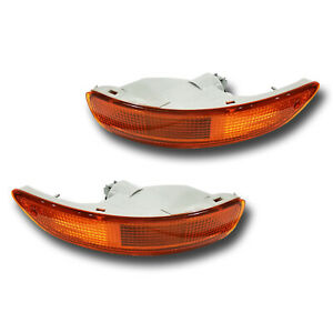 Fits 93 97 Toyota Corolla Driver Passenger Signal Light Lamp Assembly 1 Pair