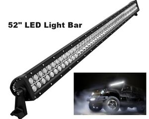 52inch Roof Led Light Bar Fog Lights 4 Wheeler Wrangler Jk Cj Lj Tj Rubicon