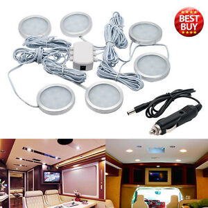 6pcs 12v 2 5w Interior Led Spot Lights For Vw T4 T5 Camper Van Caravan Boat