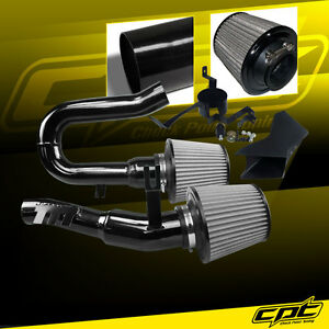 For 07 10 Bmw 335i 3 0l L6 E90 E92 E93 Black Cold Air Intake Stainless Filter