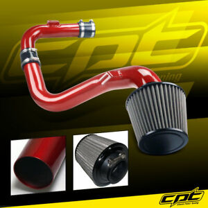For 06 09 Vw Golf Gti Turbo 2 0t Fsi Red Cold Air Intake Stainless Filter