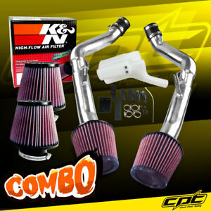 08 13 G37 2dr 4dr 3 7l V6 Polish Cold Air Intake K N Air Filter