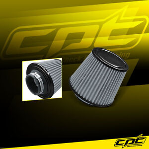 3 Stainless Steel Cold Air Short Ram Cone Intake Filter Black Universal