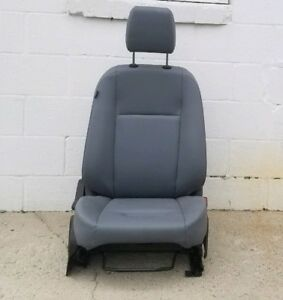 Ford Transit Passenger Gray Vinyl Bucket Seat With Slide Track Oem 2014 And Up