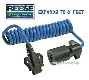 Reese 7 Way To 4 Way Flat Adapter Trailer Wiring Harness Towing Wire Connector