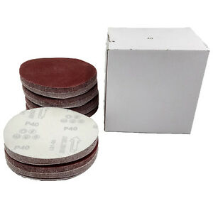 6 Inch Da Hook And Loop Sandpaper Sanding Discs 40 2000 Grit Pack Of 100