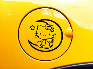 Hello Kitty Face Logo Decal Car Sticker Fuel Cover 4 0x3 7 Pink White Black Red