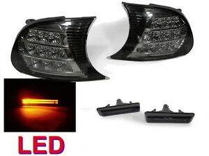 4pcs Combo Smoke Led Corner Amber Light Bar Led Side Marker For 02 06 Bmw E46 M3