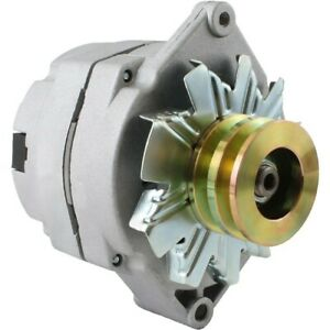 New Alternator Tractor Chevy 10si 1 wire One Wire 2 Groove Pulley 63 Amp 12 V
