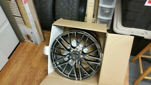 Black Chrome Zr1 Style Corvette Wheels Fits 2005 2013 C6 Base 18 19 In Boxes New
