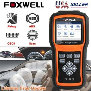 Foxwell Abs Sas Srs Reset Engine Check Obd2 Code Reader Diagnostic Scanner Tool