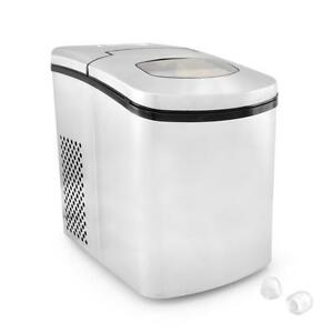 Nutrichef Picem25 Ice Maker Countertop Ice Cube Making Machine stainless Steel