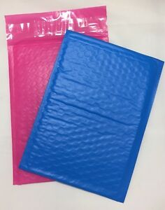 200 100 Blue 100 Pink 6 X 9 0 Color Poly Bubble Mailers Padded Self Seal