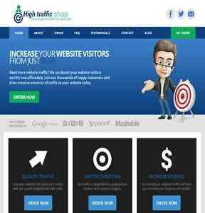 Turnkey Traffic Reseller Business Website High Profit Fully Outsourced 300 day