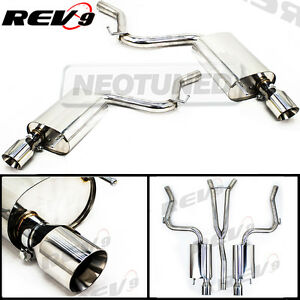 Rev9 Catback Exhaust 4 Dual Tip Y Pipe For Mustang 2 3l Ecoboost Turbo 15 17