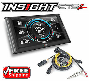 Edge Products Insight Cts2 84130 Touch Screen Monitor Gauge Incl Eas Egt Probe