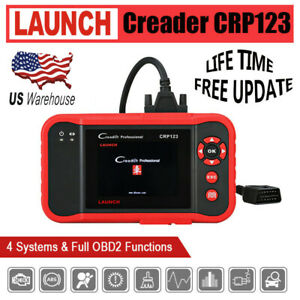 Lifetime Free Updates Launch X431 Creader Crp123 Obd2 Diagnostic Scanner Abs Srs