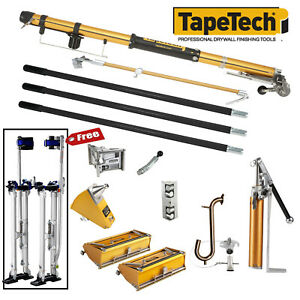Tapetech Full Set Of Automatic Drywall Taping And Finishing Tools W free Stilts