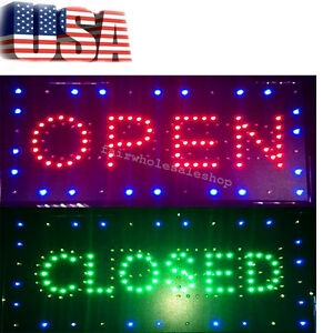 Usa 2in1 Open closed Bright Led Sign Store Shop Business Display Neon 26 52 2cm