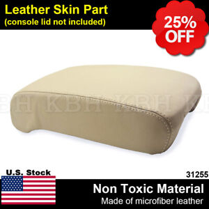 Leather Armrest Center Console Lid Cover Fits Lexus Ls 430 Ls430 2001 2006 Beige