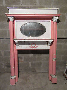 Tall Antique Oak Fireplace Mantel 52 X 78 Architectural Salvage