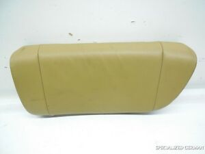 1999 2004 Porsche 911 996 Right Rear Seat Lower Seat Cushion Tan Leather