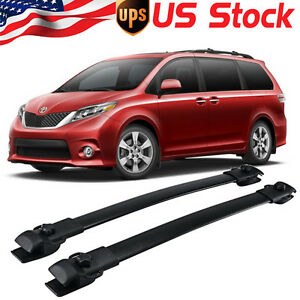 Oe Style Roof Rack Cross Bars Smooth Luggage Carrier For 2011 2018 Toyota Sienna